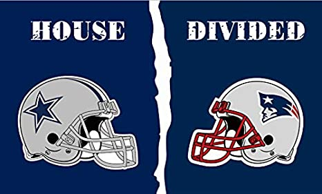 New England Patriots Dallas Cowboys House Divided Helmet