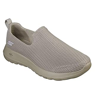 Skechers Men's Go Max-Athletic Air Mesh Slip On Walking Shoe, Taupe, 9