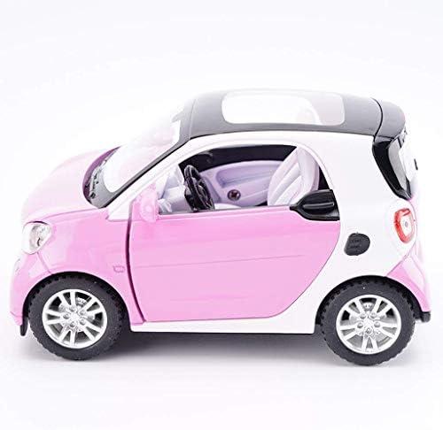 YN モデルカー モデルカースマートカーモデル1:24スケールモデルダイキャストモデル玩具モデル合金モデルコレクション装飾ピンク ミニカー