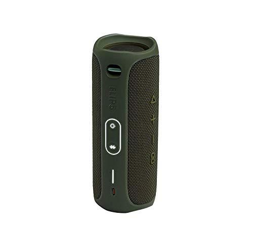 JBL Flip 5 Waterproof Portable Wireless Bluetooth Speaker Bundle with USB 2.0 Bluetooth Adapter - Green
