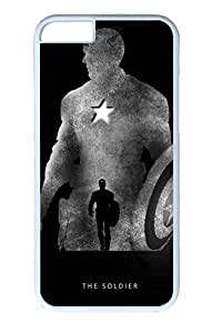 iPhone 6 Plus Case, Hot Sale Captain America Soldier Customize Hard PC White Cover Protective Case [Scratch-Resistant] [Perfect Fit] for Apple iPhone 6 Plus 5.5 Inch