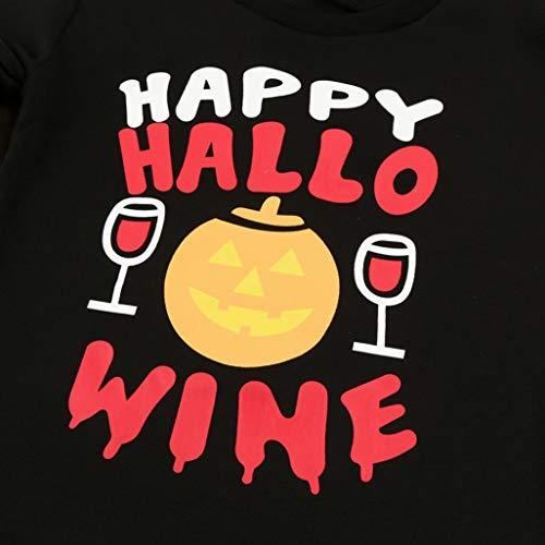 Halloween Hiver Femmes Pull zahuihuiM Noir Off Mode Cou Imprimer paule Citrouille Sweat De Slash Lettre Manches Longues Blouse REq5Rdnwxr