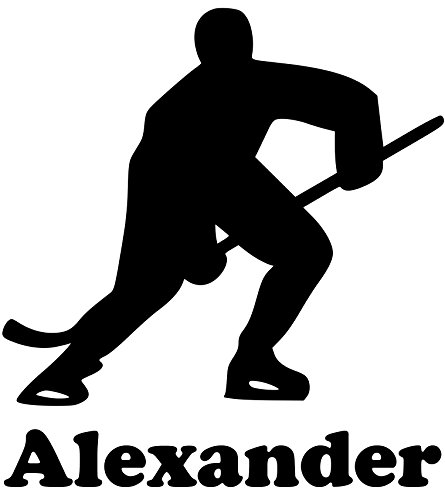 ice-hockey-player-vinyl-decal-sticker-with-custom-personalized-name-5-x-55-white