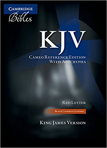 kjv cameo reference edition with apocrypha kj455xra black calfskin leather