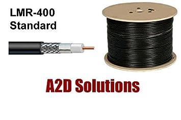 250 ft veces microondas LMR-400 estándar Flexible comunicaciones de baja pérdida Cable Coaxial de