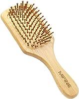 Mifine ヘアブラシ 櫛 木製 頭皮 肩 顔 マッサージ パドルブラシ 血行促進 美髪