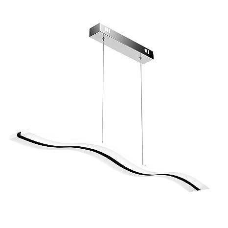 Create For Life® Lámpara colgante LED,Lámpara de techo colgante 38W LED Lámpara de techo 6000 Kelvin Blanco fríoo, acrílico araña moderna