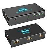 AVMTON 1x4 HDMI Splitter 1 in 4 Out HDMI Splitter Switch Box 4 Port HDMI Spliter Amplifier Repeater Support Ultra HD 4Kx2K 30Hz 3D 1080P Full HD HDMI1.4 HDCP 1.4