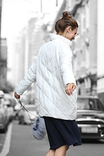 White Clearance Water Jacket you Collar Stand u Quilted Resistant Women Anorak qTtHfwv
