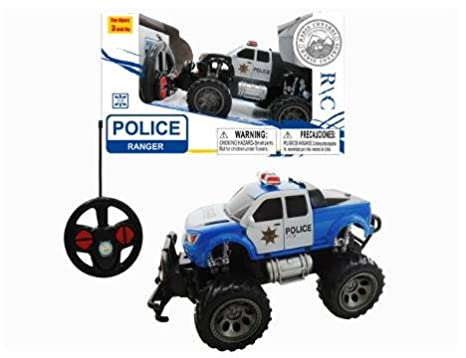 Amazon Com Rc Police Car Remote Control Police Monster Truck For