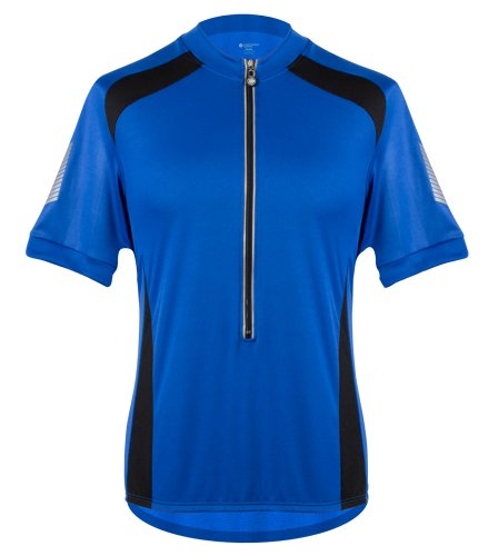 AERO|TECH|DESIGNS Tall Mens Elite Coolmax Cycling Jersey - Made in the USA (4XL, Royal) ()