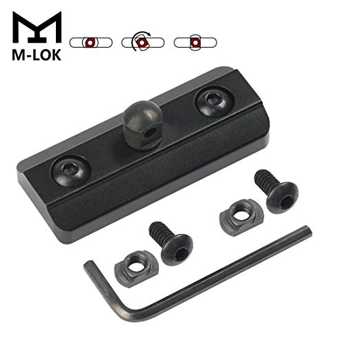 XAegis M-LOK Bipod Adapter, Harris Type Bipod Mount Fits on M-Lok System - Mlok Sling Stud - Includes 4 T-Nuts & 4 Screws and 1 Wrench (M-lok bipod Adapter) ()