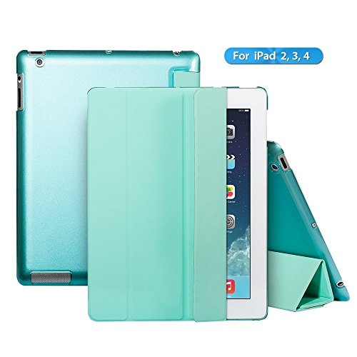iPad 2 case,iPad 3 case,iPad 4 case,Ants Tech Smart Wake-up and Sleep Function Stand Pedestal Screen Cover for Apple iPad 2 3 4 with Retina Display - Green (Tie Dye Ipad 2 Case compare prices)