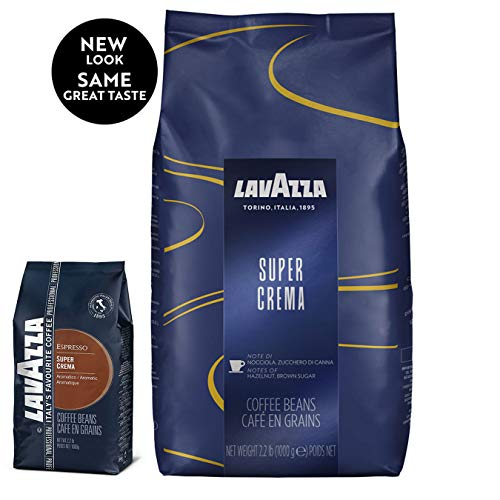 Lavazza Super Crema Whole Bean Coffee Blend, Medium Espresso Roast, 2.2-Pound Bag (Le Bean)