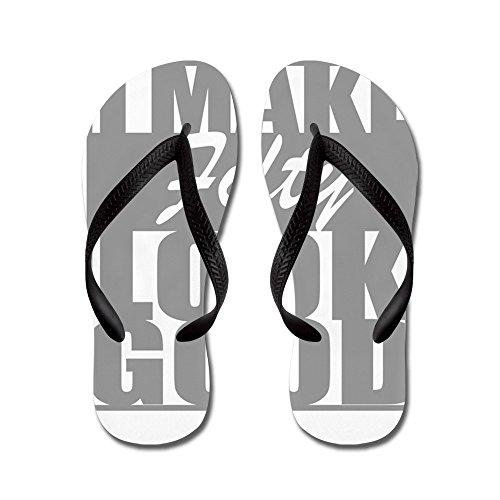 Ik Maak Er 50 Goed Uit - Flip-flops, Grappige Leren Sandalen, Strand Sandalen Zwart
