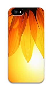 pretty cover sunflower background PC Case for iphone 5/5S