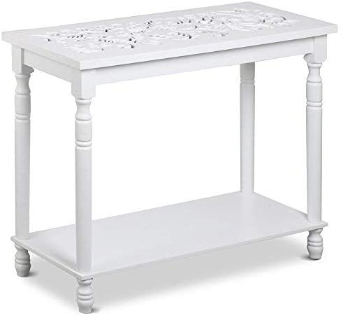 Topeakmart White Antique Console Table