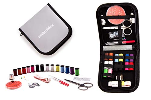- Embroidex Sewing Kit for Home, Travel & Emergencies - Filled with Quality Notions Scissor & Thread - Great Gift