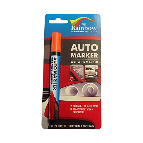 Auto Writer Water Based Removable Paint Markers For All Car Surfaces or any...
