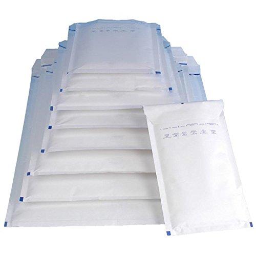200x Luftpolstertasche Versandtasche Umschlag Größe D/4 200x275mm weiß DIN B5