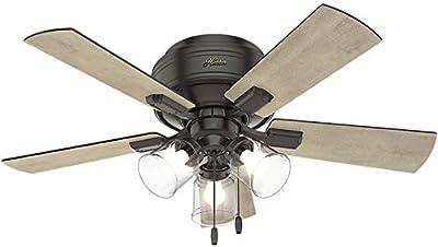 "Hunter 52153 Crestfield 42"" Ceiling Fan with LED Light, Noble Bronze"