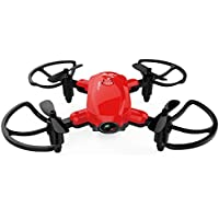 Owill Mini Foldable With Wifi FPV 0.3M HD Camera 2.4G 6-Axis RC Quadcopter Drone, About 7mins Flying Time (Red)