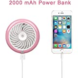 SUPOW Cooling Misting Fan, Portable Summer Beauty Humidifier Mini USB Rechargeable Water Spray Fan For Home Office and Travel (Pink)