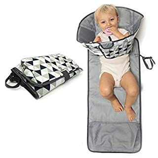 SnoofyBee Large Baby-Changing Travel Pad Diaper Clutch, Accessories for Babies Clean Hands Changing Pad Excursion Edition (Triangle)