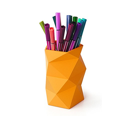 Creative Design Silicone Pen and Pencil Container (Orange)