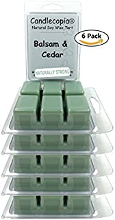 product image for Candlecopia Balsam & Cedar Strongly Scented Sustainable Vegan Natural Soy Wax Melts, 36 Soy Wax Cubes, 19.2 Ounces in 6 x 6-Packs