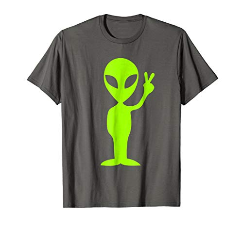 Alien Peace Sign T-Shirt