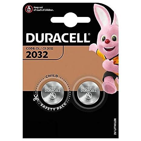Duracell - Lote de 2 Pilas de botón (Litio, 2032 CR2032 DL2032 ...