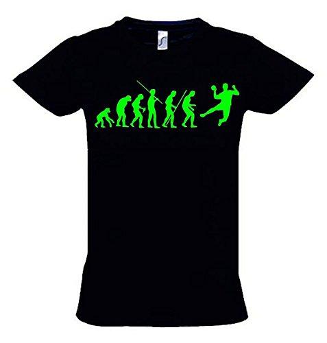 HANDBALL Evolution Kinder T-Shirt schwarz-green, Gr.152cm