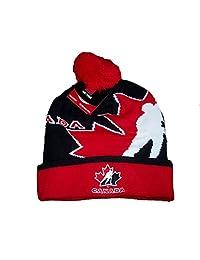 Team Canada Hockey Men's 2016 Big Logo Pom Pom Hat