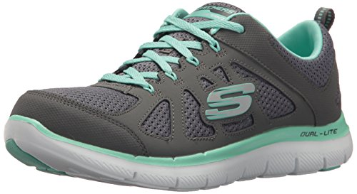 Skechers Women's Flex Appeal Simplistic Sneaker Charcoal Green
