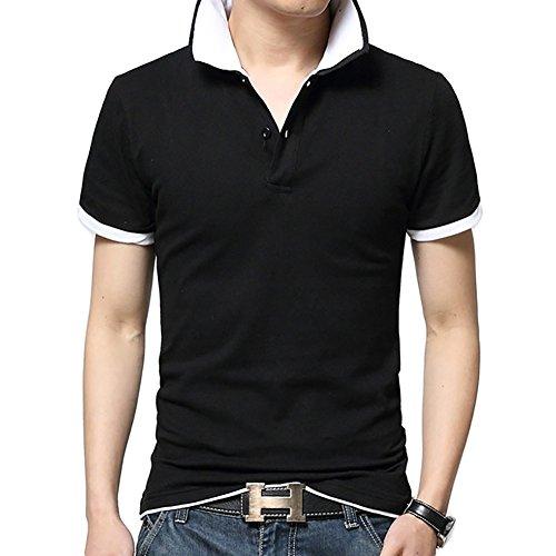 (エフバイフォー) F×4 メンズ 半袖 長袖 レイヤード 風 シンプル ゴルフ ポロ シャツ 6 カラー FMT020