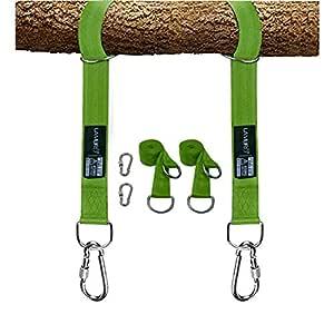 LAMURO Kit para Colgar Columpios de árboles Correas Verde ...