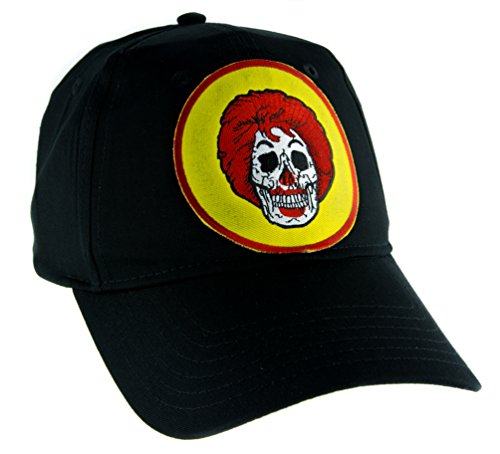 Ronald McDonald Skull Hat Baseball Cap Americana Fast Food Culture