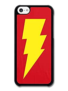 MMZ DIY PHONE CASEBig Bang Theory Yellow Lightning and Red Background case for iphone 5c