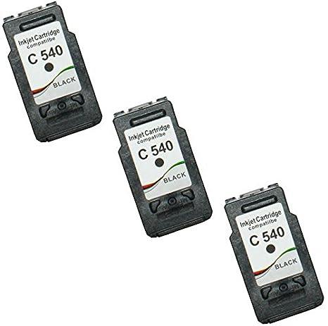 Prestige Cartridge 2 Negro Compatibles PG-540XL Cartuchos de Tinta para Canon Pixma MG4250 MG3550 MG3250 MG3150 MX395 MX535 MG4150 MG3650 MG2250 ...