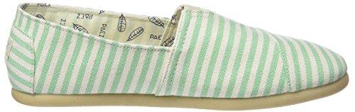 Paez Damen Original-Classic Green Stripes Espadrilles, Grün verschiedene Farben (Green Stripes)