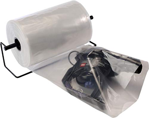 """APQ Pack of Clear Poly Tubing on Roll 24"""" x 750'. FDA Approved. Ultra Thick 4 mil Plastic Bags for Heavy Weight, Odd-Size Items, Long Cylinder Objects. Poly Tubing Roll for Industrial, Food Service. from APQ Supply"""