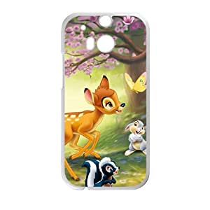 Spring scenery deers and lovely small animal Cell Phone Case for HTC One M8