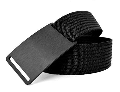 Grip6 Adjustable No Holes Men's Belt (32, Ninja)