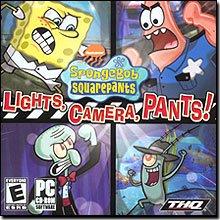 THQ SpongeBob Squarepants - Lights, Camera, Pants! Kid Games for Windows for 13 and Up - Game Spongebob Lights