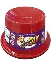 COMEDOURO PLAST. GATO SUPER CAT - 200 ML (VERMELHO)