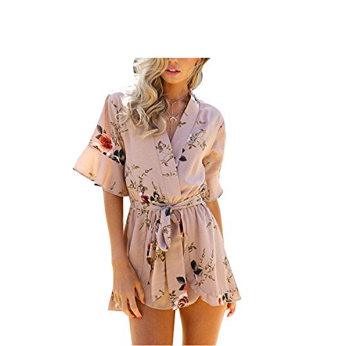 AUUOCC Rompers Casual Jumpsuits Hest Wrap Beach Playsuits XS-3XL 19 XXL by AUUOCC jumpsuits