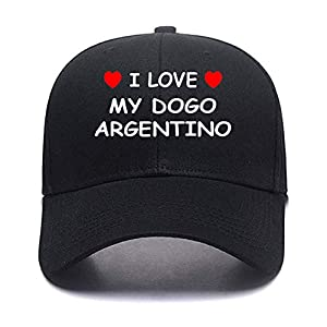I Love My DOGO Argentino Custom Made Cotton Adjustable Color Personalized Caps Personalized Hats 8