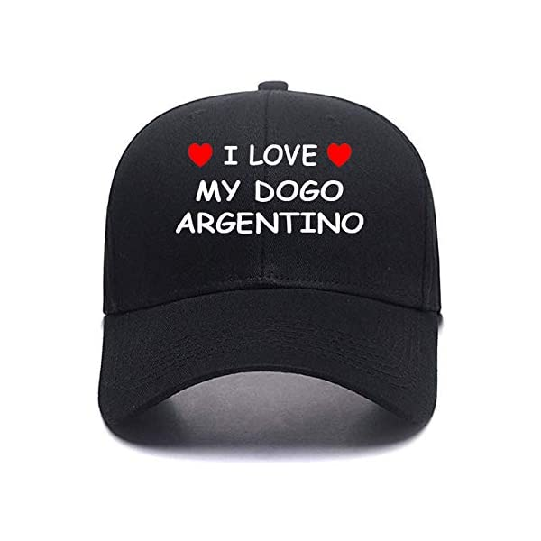 I Love My DOGO Argentino Custom Made Cotton Adjustable Color Personalized Caps Personalized Hats 1