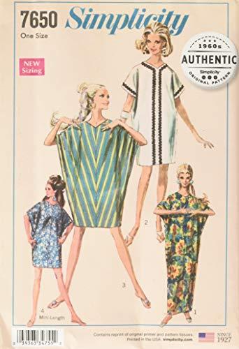Simplicity Vintage UV7650OS Dresses, OS (ONE Size) ()